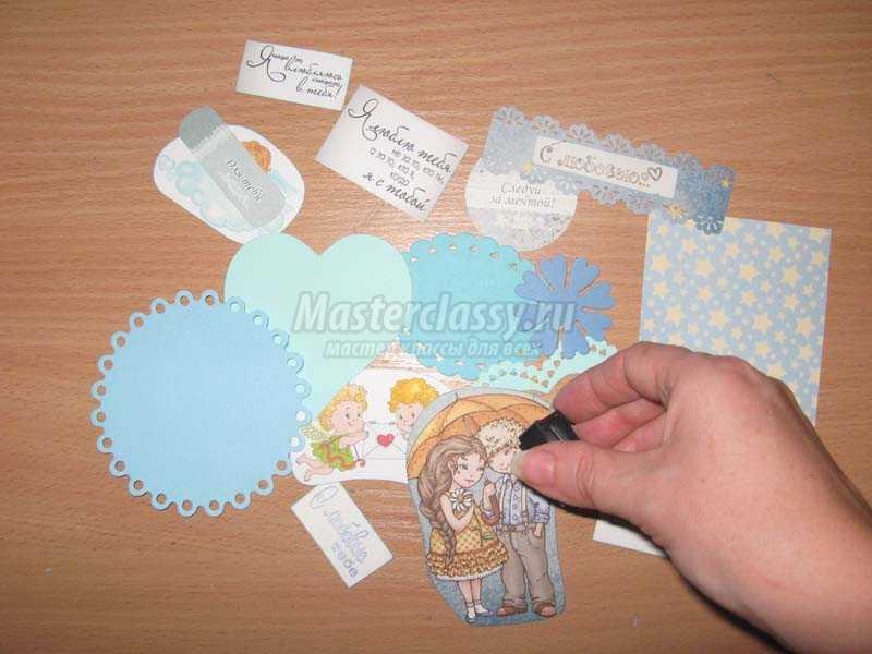 открытки своими руками техника скрапбукинг