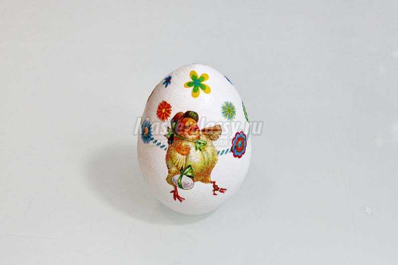 декупаж пасхальных яиц салфетками