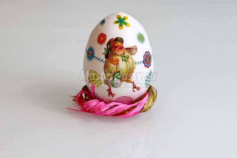 декупаж пасхальных яиц мастер класс