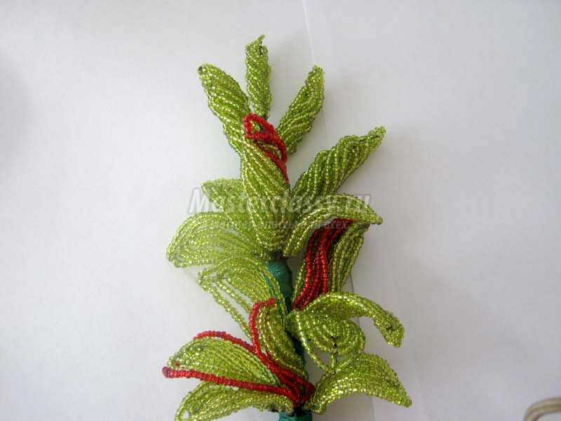 плетения бисером гладиолус