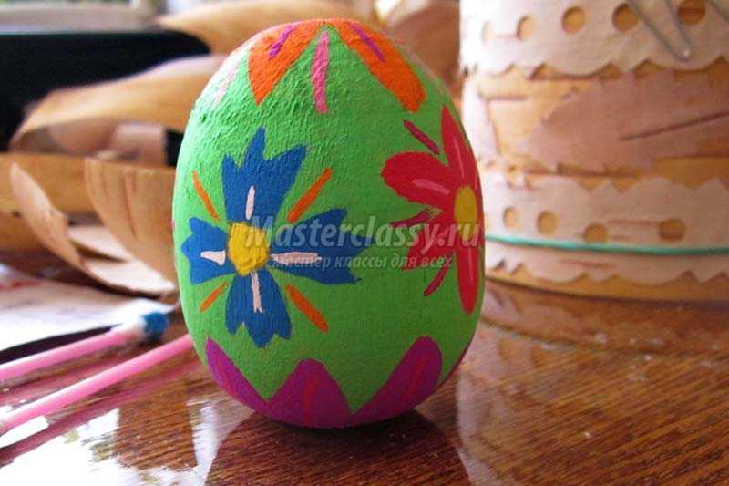 роспись пасхального яйца мастер класс