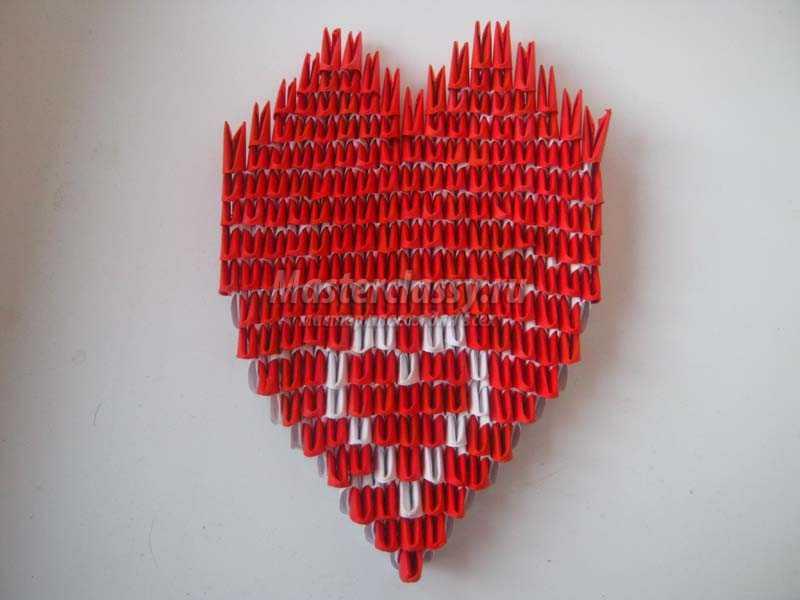 модульное оригами сердечко