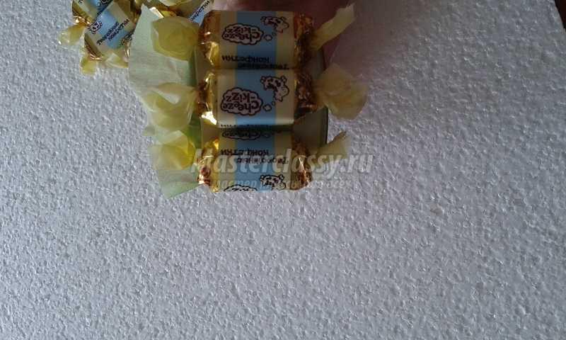 пасхальный кулич из конфет мастер класс