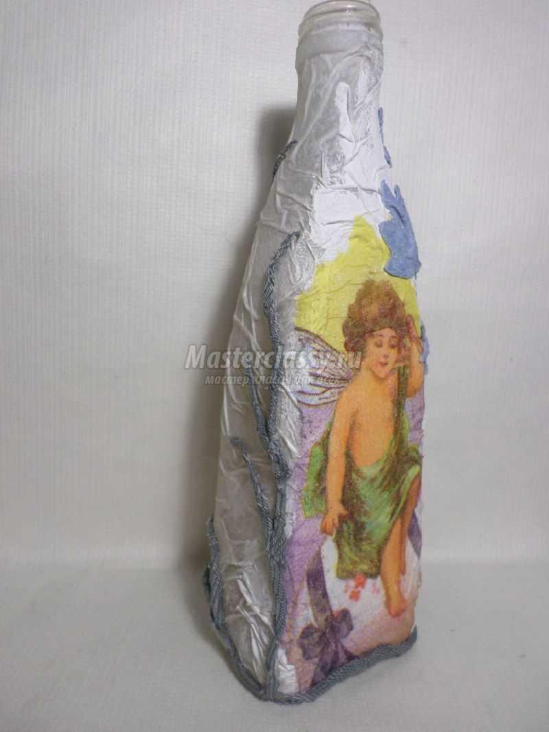 как сделать декоративную бутылку