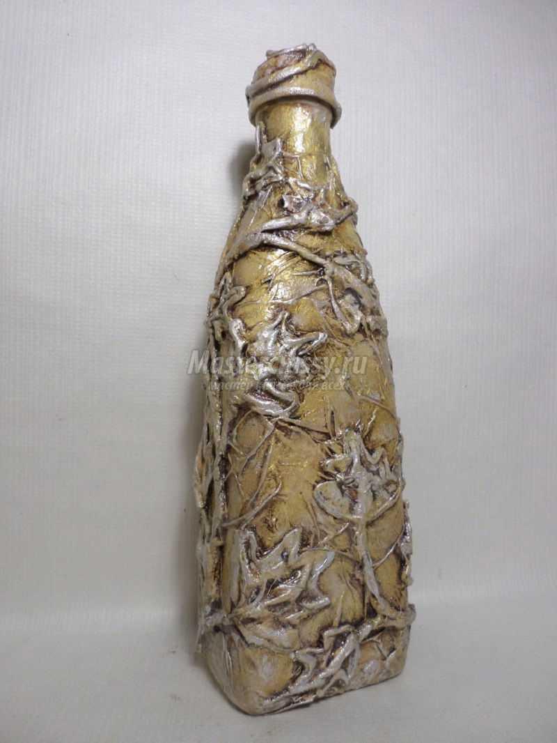 декоративная бутылка своими руками мастер класс