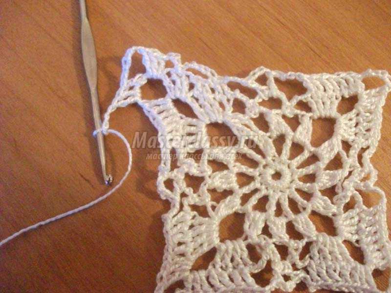 вязание крючком ажурные салфетки