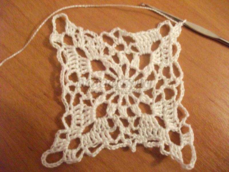 простые вязание крючком салфетки