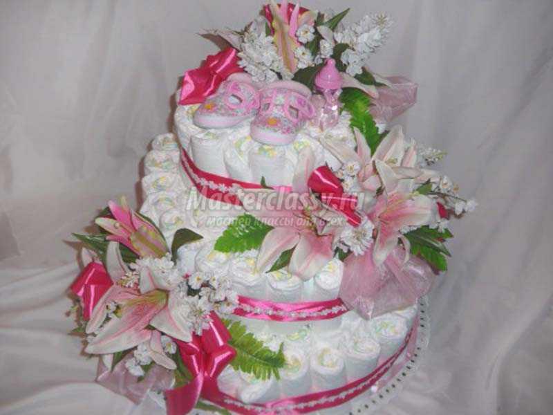 торт из памперсов мастер класс