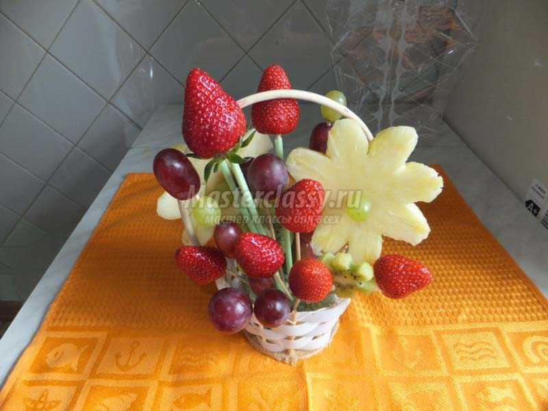 фруктовые букеты своими руками фото