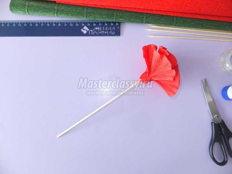 гвоздики из бумаги своими руками