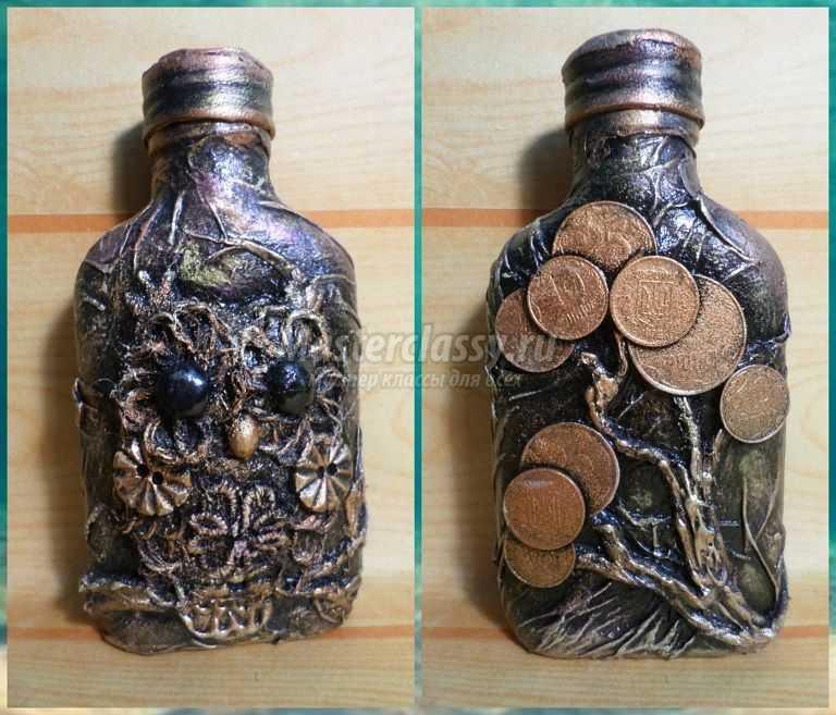 декор декупаж бутылок
