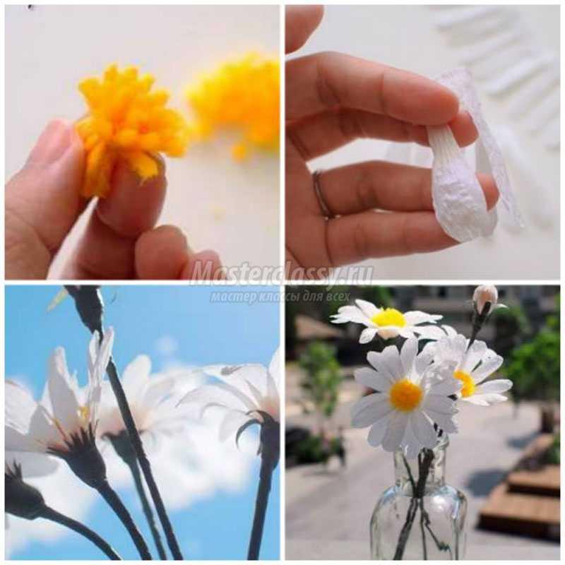 Ромашки из бумаги своими руками: лучшие идеи с фото