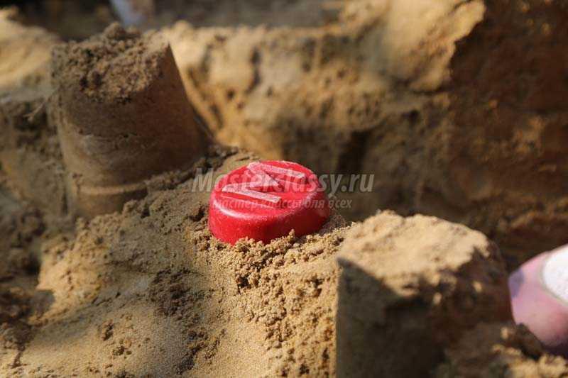 как сделать замок из песка