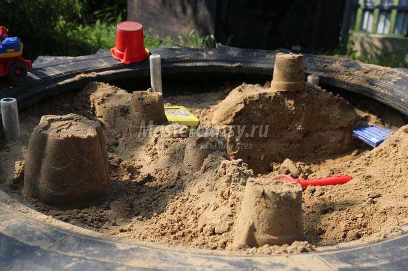 как сделать замок из песка для детей