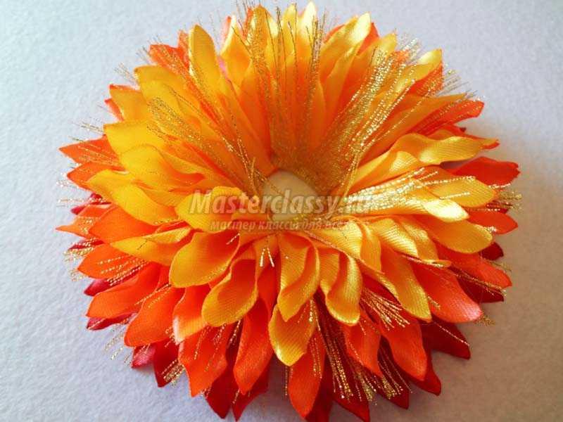 цветы атласных лент хризантемы