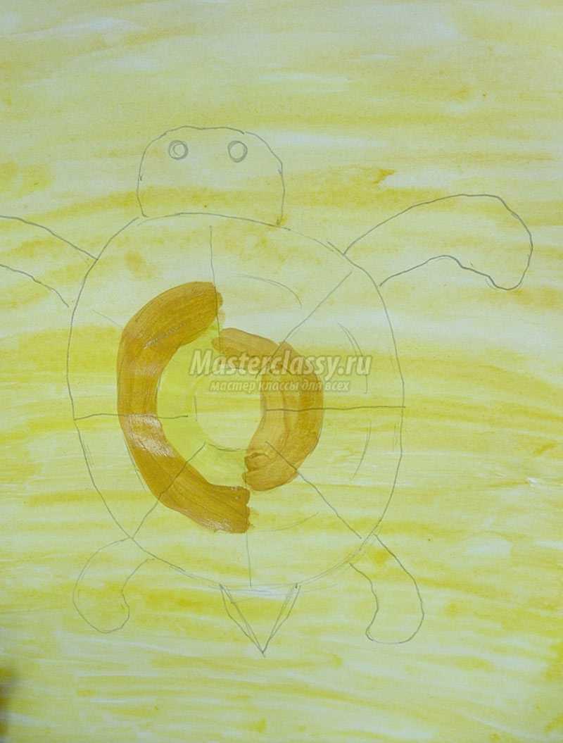 черепашка рисунок