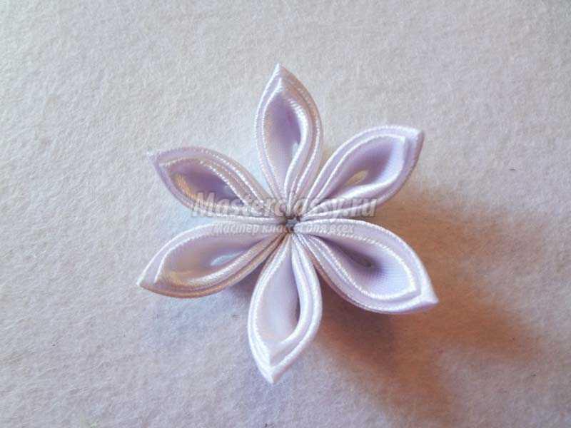 цветы на заколки канзаши