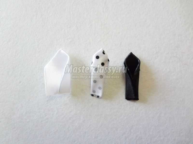 черно-белые снежинки канзаши