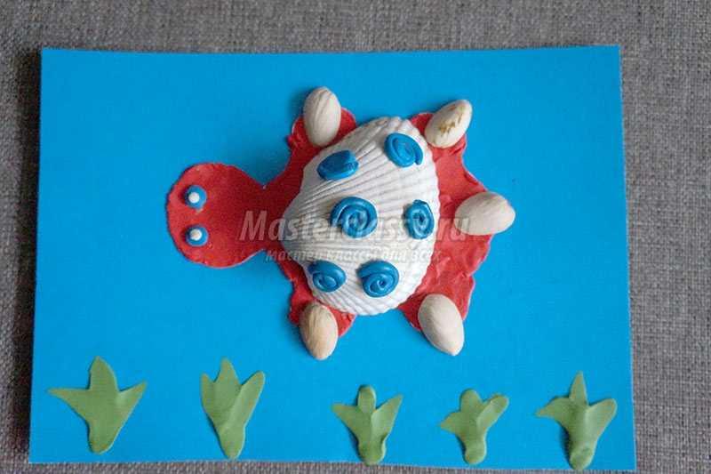 черепашка из природного материала своими руками
