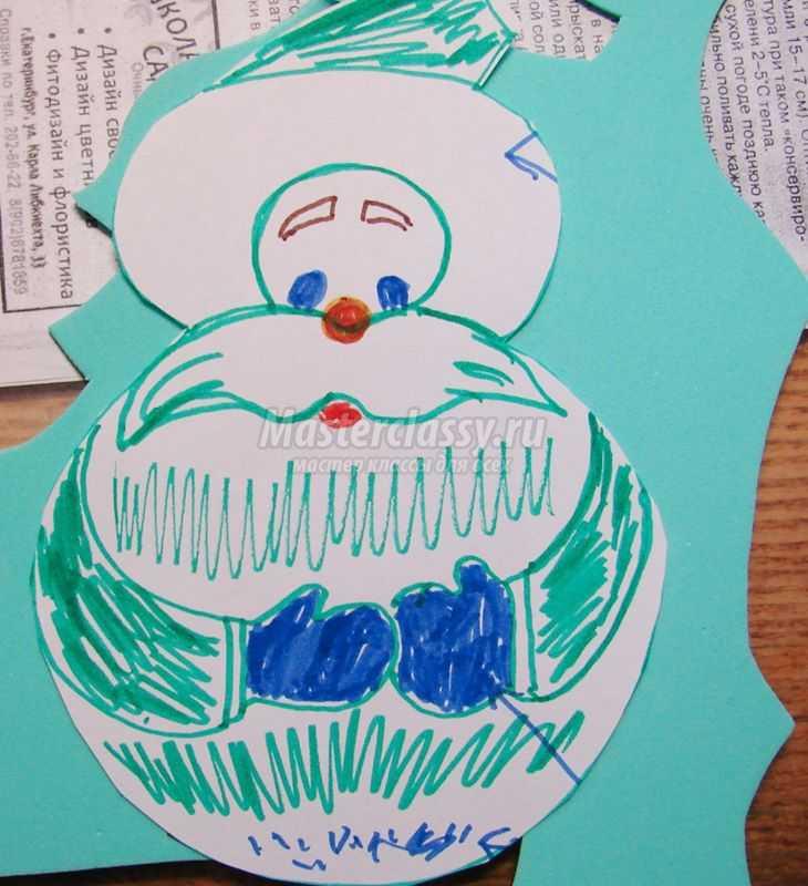 Дед Мороз и петушок из фоамирана