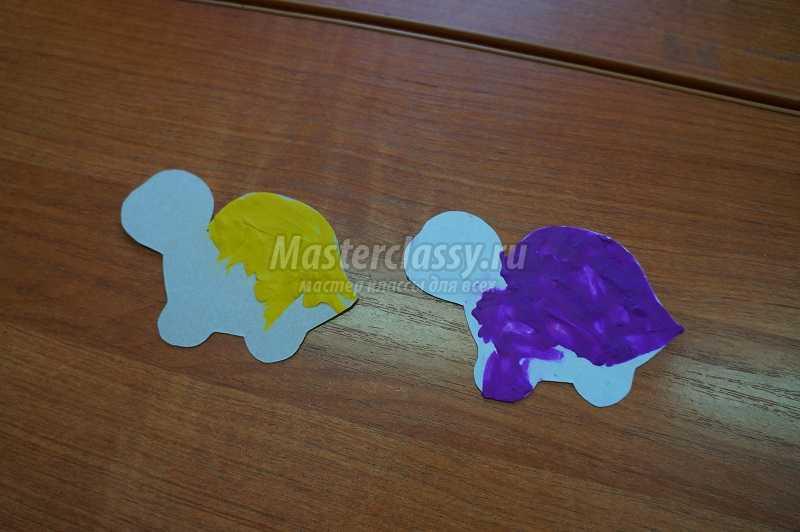 черепашка из пластилина