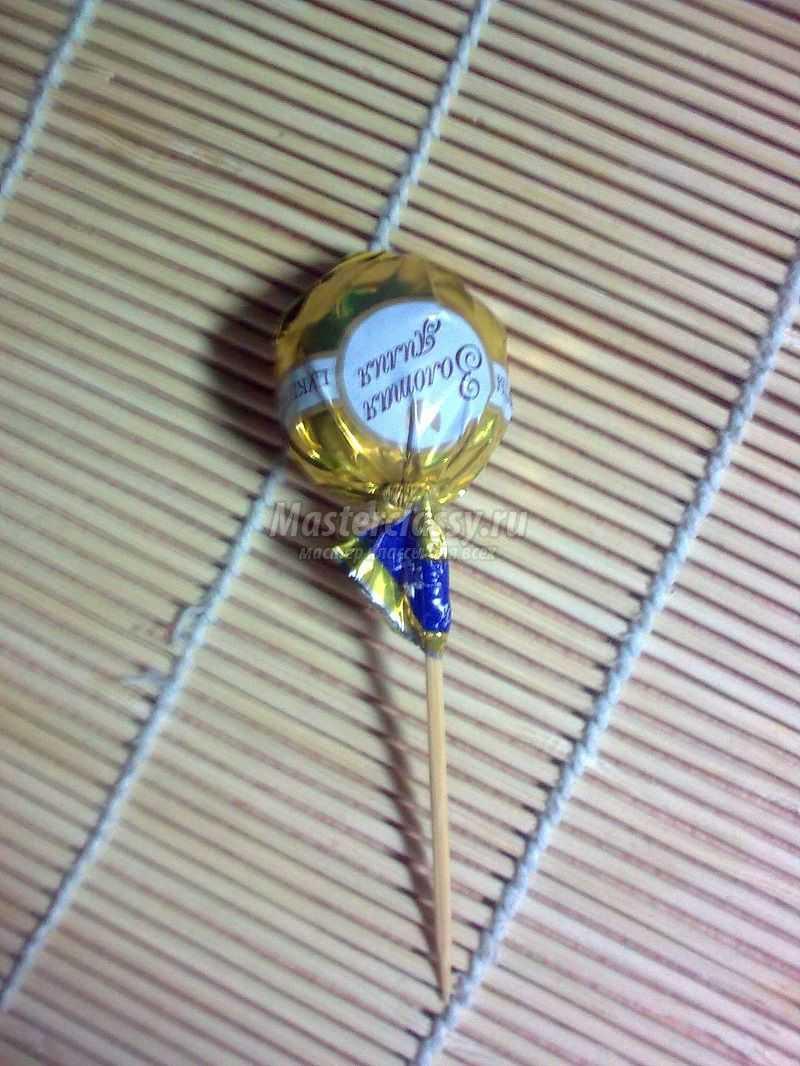 конфетный букет мастер класс