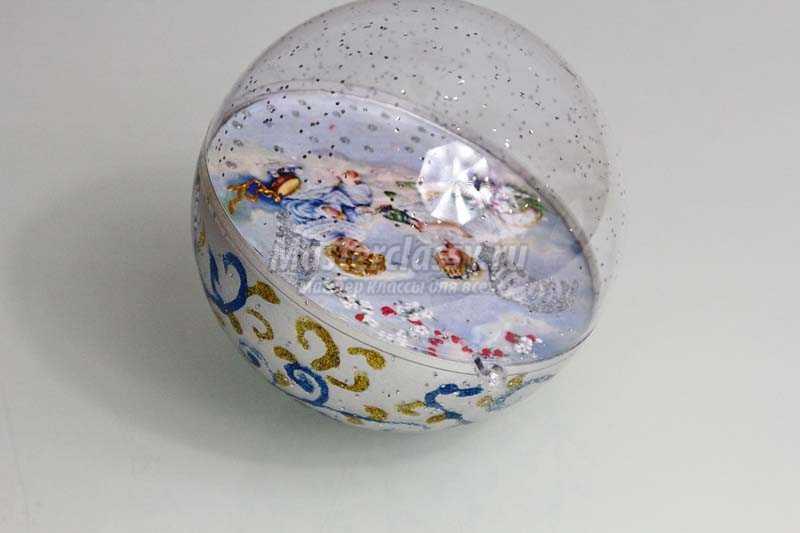 как сделать елочный шар