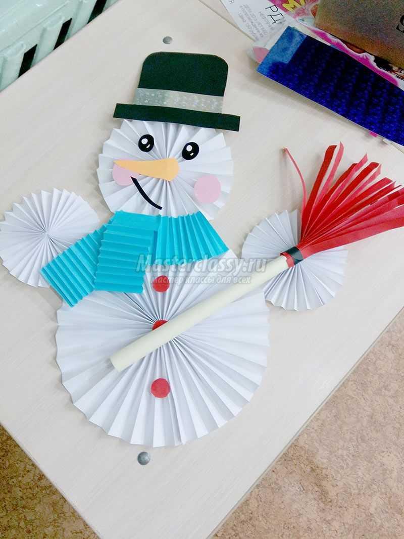 Как сделать руки снеговику из бумаги своими руками фото 870