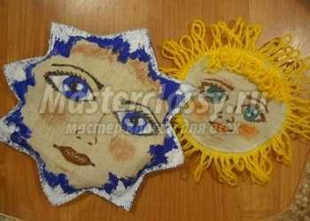 Работа с тканью.  Вифлеемская звёздочка и Солнышко. Мастер-класс с пошаговым фото
