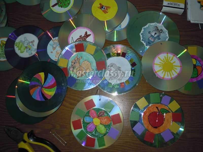 елочки из дисков