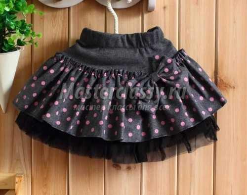 Сшить юбку девочке из трикотажа