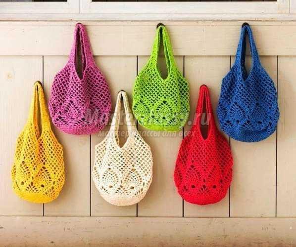 3288c31af133 Вязаные сумки крючком: схемы и описания. 100 идей для вязание сумок ...