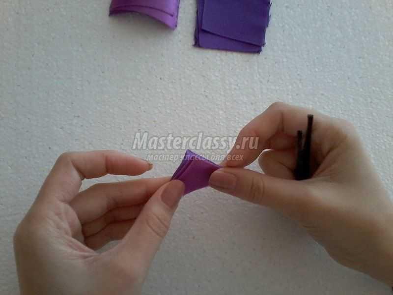ободок для волос канзаши