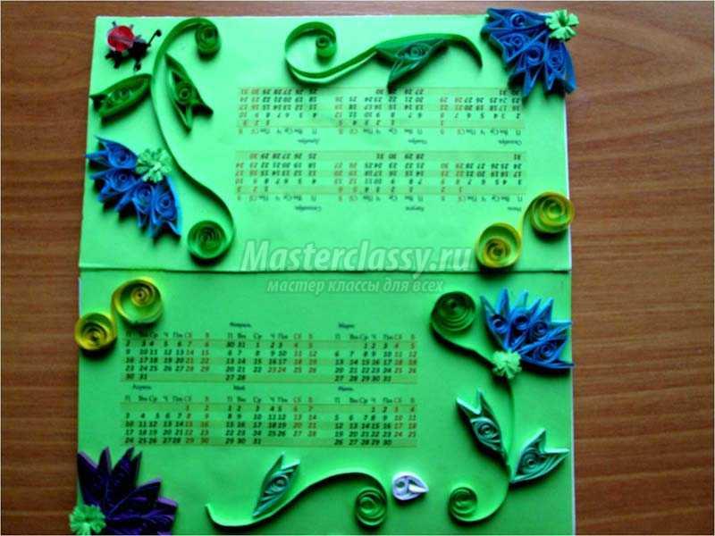 настольный календарь своими руками мастер класс