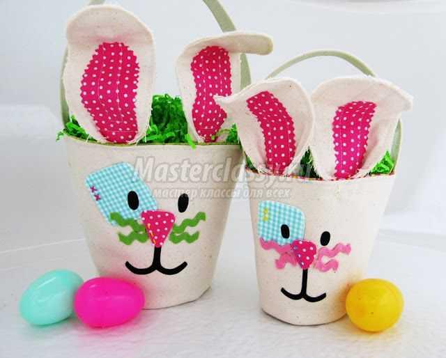 1489583654_easter-bunny-baskets-copy Подарок на пасху своими руками: 10 идей с пошаговым фото