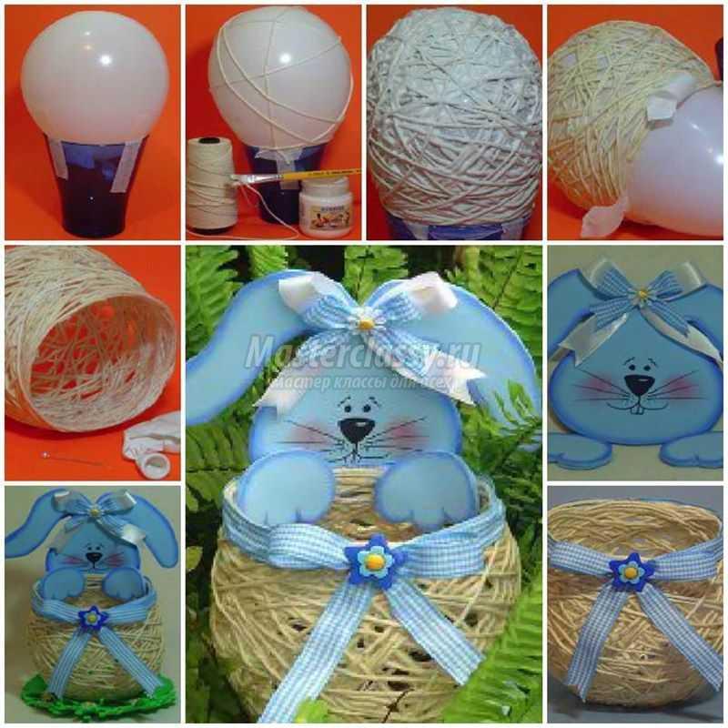 1489583706_diy-yarn-string-easter-basket-1-copy Подарок на пасху своими руками: 10 идей с пошаговым фото