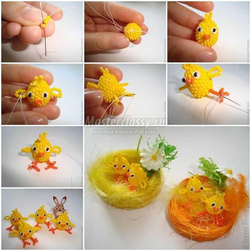 1489583717_diy-lovely-beaded-easter-chicks-1-copy Подарок на пасху своими руками: 10 идей с пошаговым фото