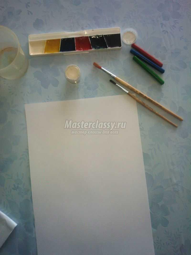 рисунки карандашом и красками