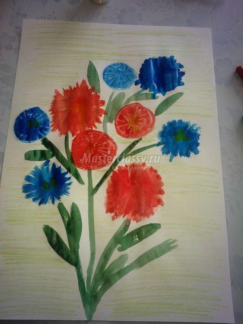 рисунок карандашами красками мелками