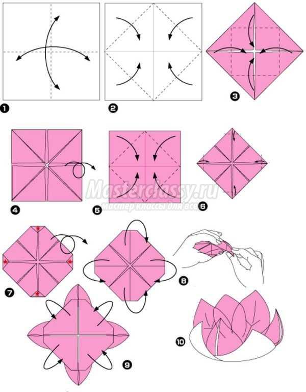 Оригами-простой цветок