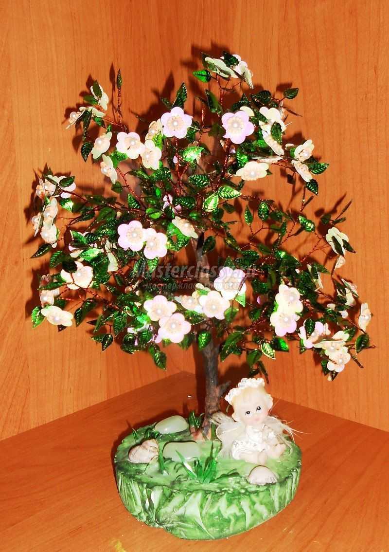 дерево сердце из бисера любимому человеку схема