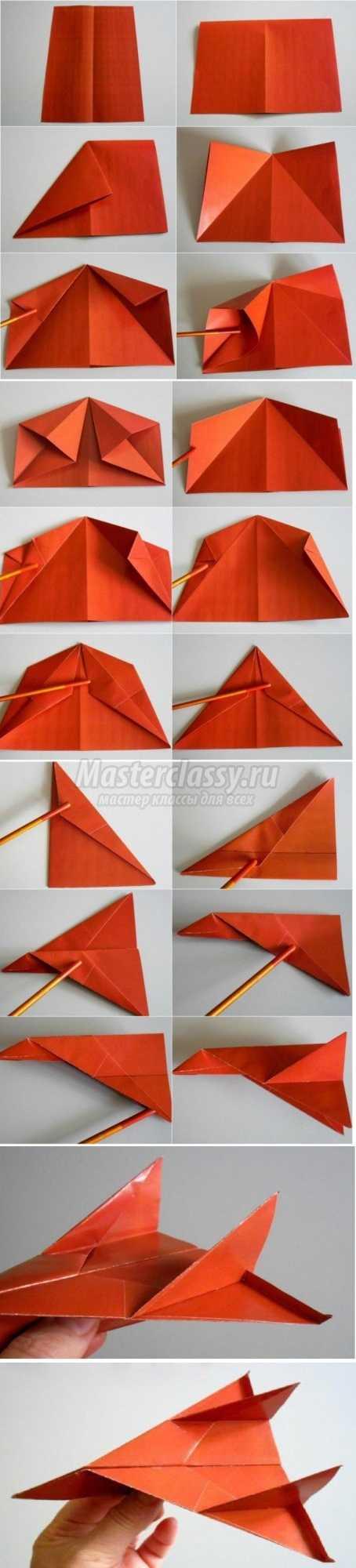 Как сделать самолет из бумаги и картона своими руками