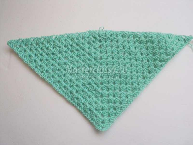 вязание крючком косынка для девочки