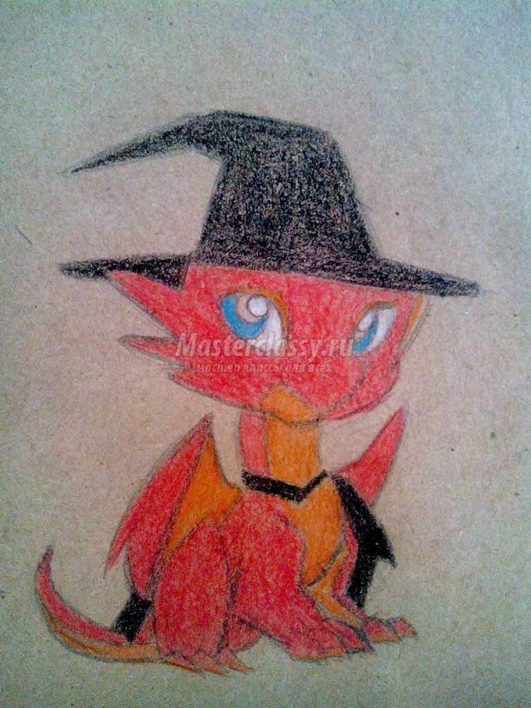 рисунки драконов карандашом
