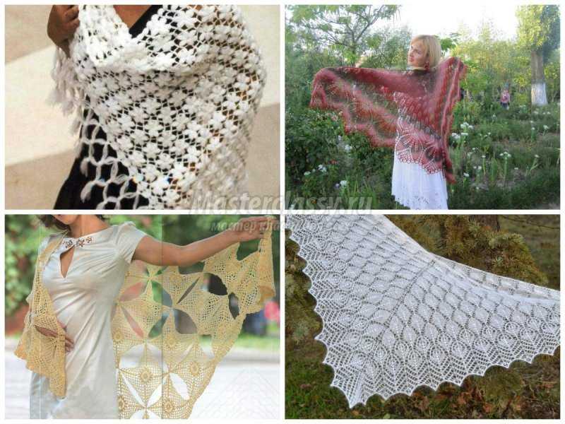 1506453091_collage3 Шали палантины вязание. Красивый ажурный палантин схемы. Как вязать шаль крючком простейшие схемы