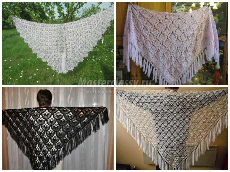 1506453099_collage10 Шали палантины вязание. Красивый ажурный палантин схемы. Как вязать шаль крючком простейшие схемы