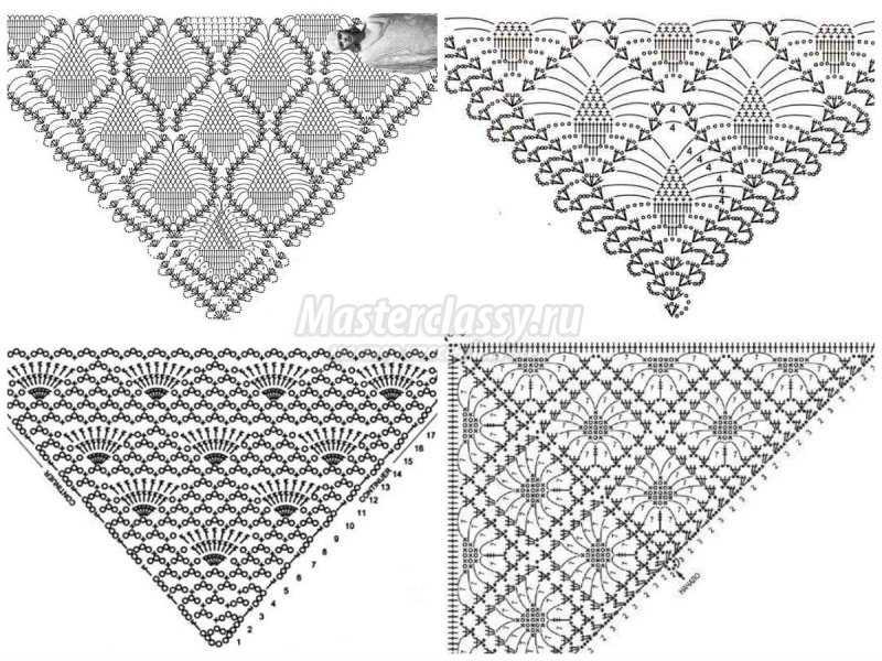 1506453128_collage8 Шали палантины вязание. Красивый ажурный палантин схемы. Как вязать шаль крючком простейшие схемы