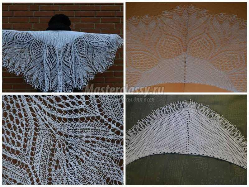 1506453140_collage12 Шали палантины вязание. Красивый ажурный палантин схемы. Как вязать шаль крючком простейшие схемы