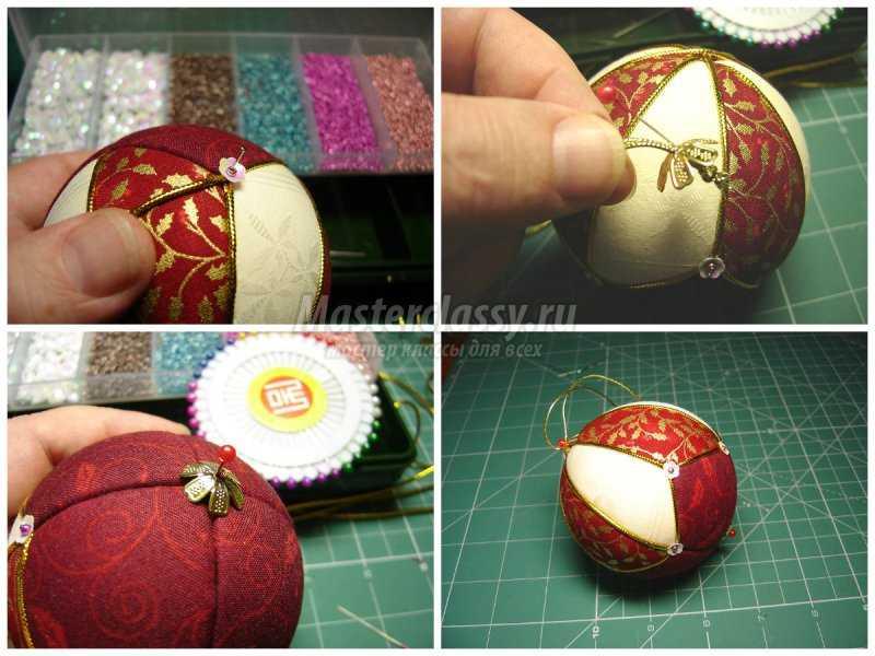 1509649826_collage4 Новогодние шары своими руками: ТОП