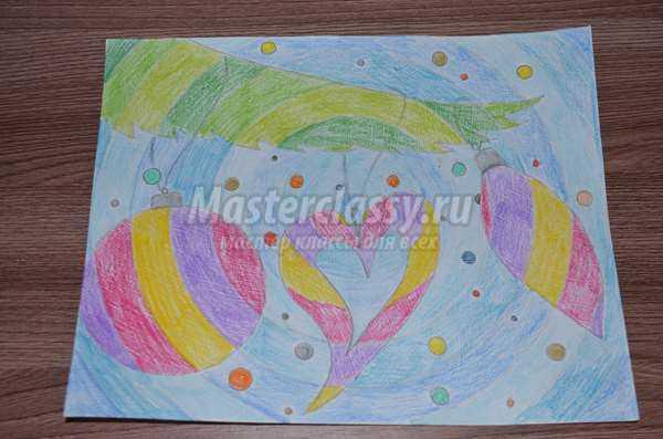 Сказочная картина на радужных кругах
